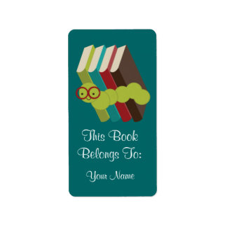 Bookworm Gift Bookplates Stickers Gift
