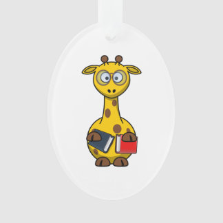 Bookworm Giraffe Art Ornament