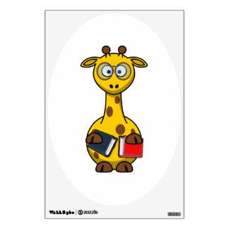 Bookworm Giraffe Art Room Decals