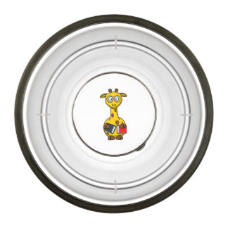 Bookworm Giraffe Art Pet Bowl