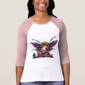 Bookworm Library Fairy Fantasy Art Tshirt