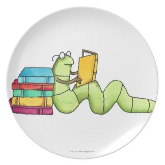 Bookworm Melamine Plate