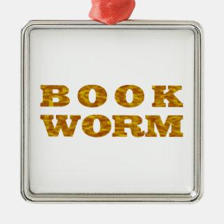 bookworm metal ornament