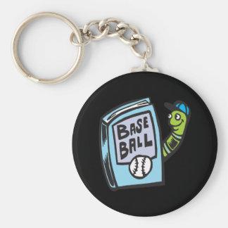 Bookworm Of Baseball Keychain