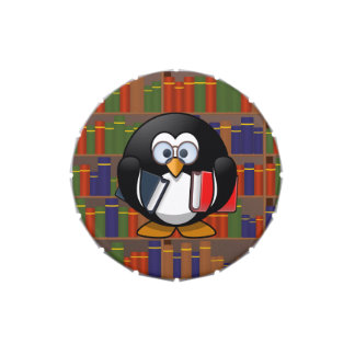 Bookworm Penguin In a Library Candy Tins