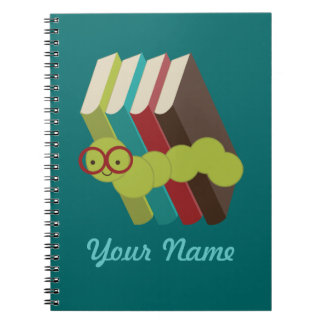 Bookworm Personalized Reading Notes Journal