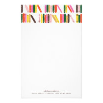 Bookworm Personalized Stationery