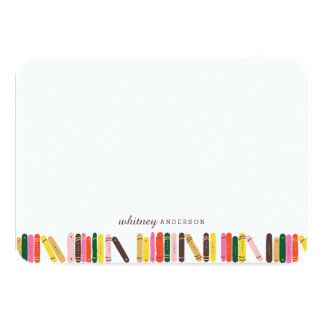 Bookworm Personalized Stationery Card