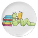 Bookworm Plate