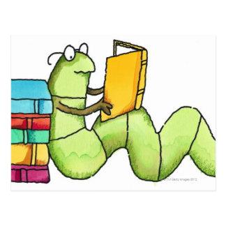 Bookworm Postcard