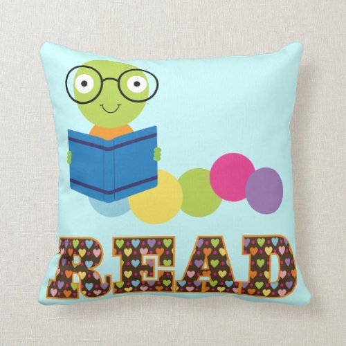 Bookworm Read book quote Throw Pillow
