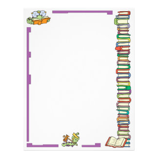 Bookworm Reading Letterhead