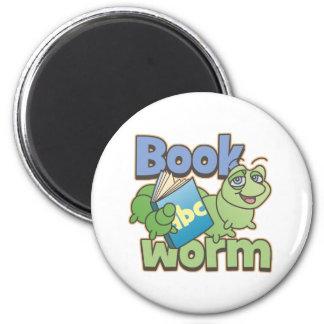 Bookworm Round Magnet