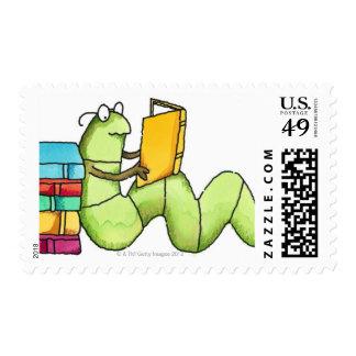 Bookworm Stamp