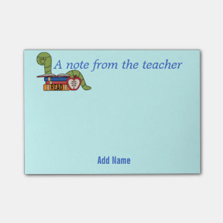 Bookworm Sticky Notes for Teachers