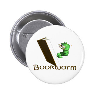 Bookworm T-shirts and Gifts. Pinback Button