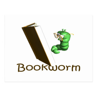 Bookworm T-shirts and Gifts. Post Card