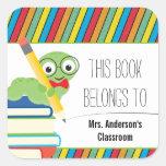 Bookworm This Book Belongs To Sticker