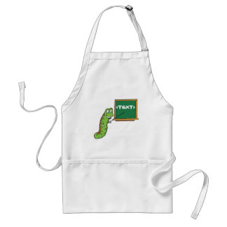 Bookworm with Customizable Chalkboard, <TEXT> Adult Apron