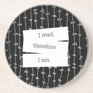 Bookworm's motto coaster