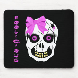 Boolicious Girl Scull Mouse Pad