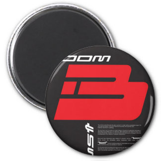 Boom and Bust 2 Inch Round Magnet