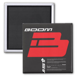 Boom and Bust 2 Inch Square Magnet