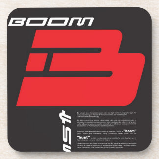 Boom and Bust Beverage Coaster