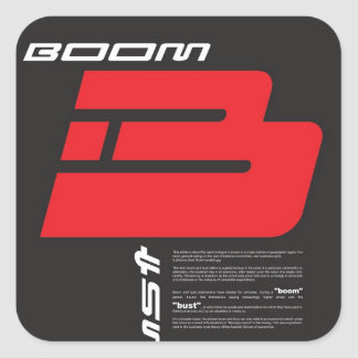 Boom and Bust Square Sticker