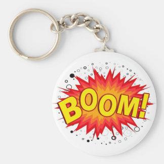 Boom! Basic Round Button Keychain