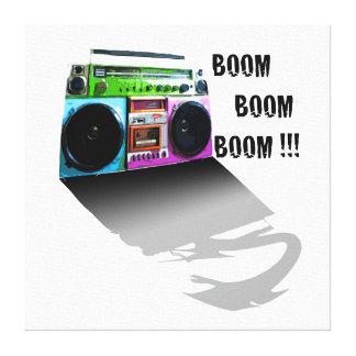 Boom Boom Boom Box on Canvas