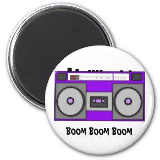 Boom Boom Boombox 2 Inch Round Magnet