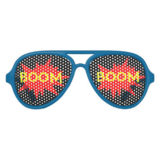 Boom Boom Funny Party Comic Glasses