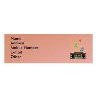 boom box business card template