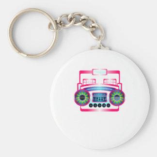 Boom Box by Chillee Wilson Basic Round Button Keychain
