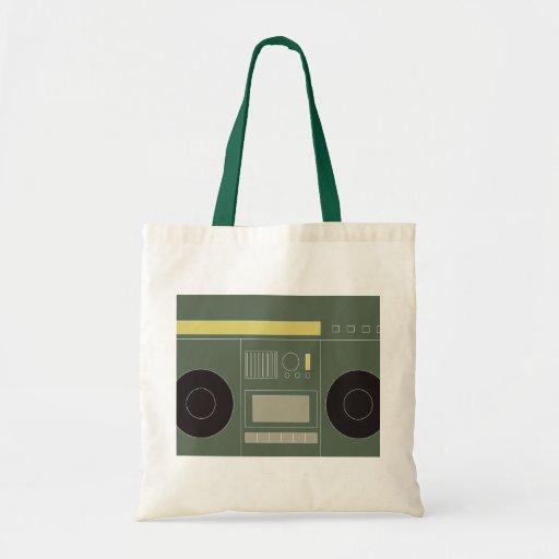 Boom Box Canvas Bags