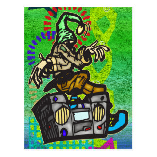 Boom Box Dancer Postcard