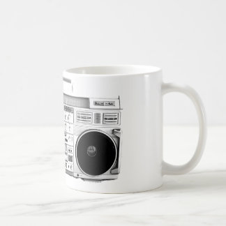 Boom Box Ghetto Blaster 80s 70s Cassette player Coffee Mug