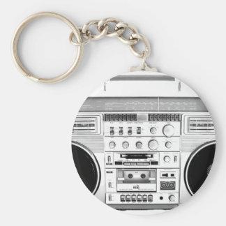 Boom Box Ghetto Blaster 80s 70s Cassette player Key Chain