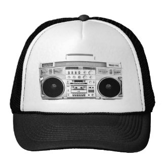 Boom Box Ghetto Blaster 80s 70s Cassette player Trucker Hat