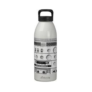 Boom Box Ghetto Blaster 80s 70s Cassette player Reusable Water Bottle