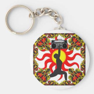 Boom Box Goddess Basic Round Button Keychain