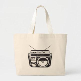 ☞ boom box Oldschool/cartridge player Large Tote Bag