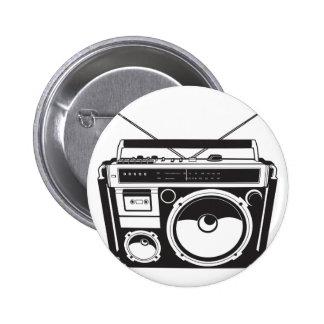 ☞ boom box Oldschool/cartridge player Pinback Button