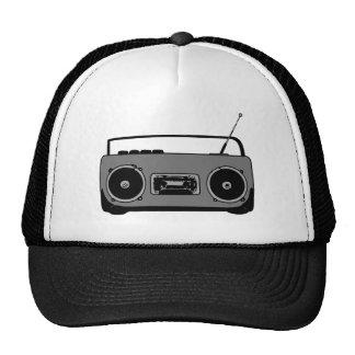 BOOM BOX RADIO CASSETTE PLAYER TRUCKER HAT