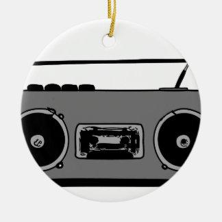 BOOM BOX RADIO CASSETTE PLAYER ROUND CERAMIC DECORATION