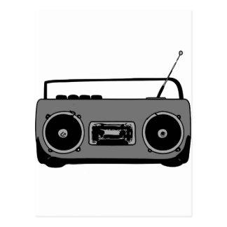 BOOM BOX RADIO CASSETTE PLAYER POSTCARD
