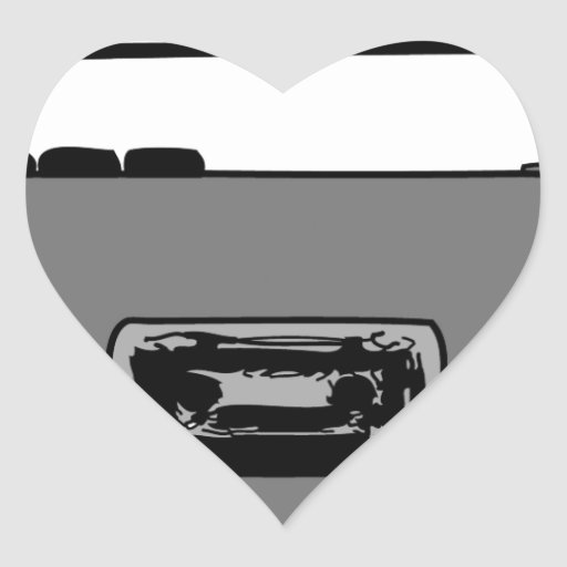 BOOM BOX RADIO CASSETTE PLAYER HEART STICKER