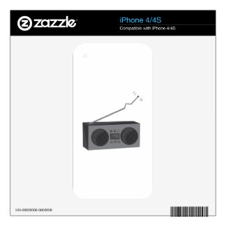 Boom Box Decal For The iPhone 4S