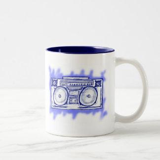 Boom Box Two-Tone Coffee Mug